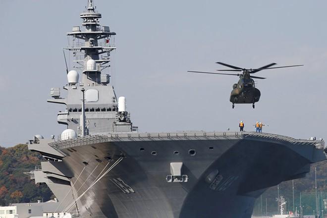 Tàu Izumo sẽ được cải tiến để mang theo tiêm kích tàng hình F-35B