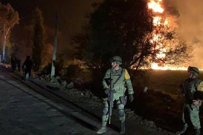 Quân đội Mexico đã được huy động đảm bảo an ninh hiện trường vụ nổ