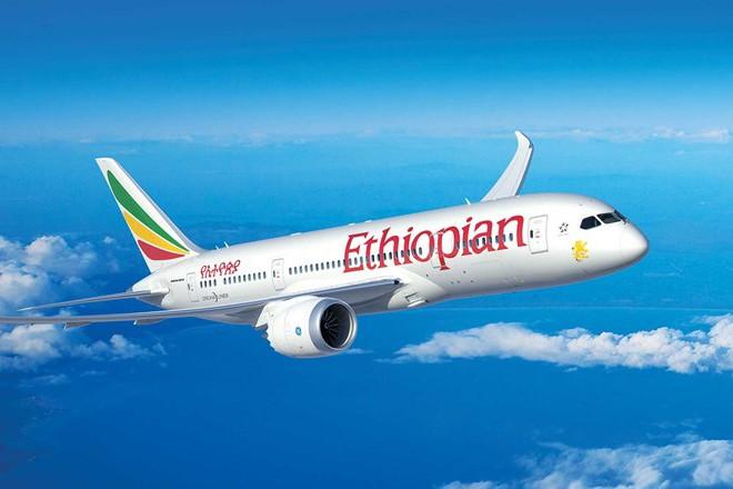 Một chiếc máy bay của hãng hàng không Ethiopian Airlines