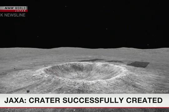 Lần đầu tiên tạo thành công miệng núi lửa trên bề mặt tiểu hành tinh
