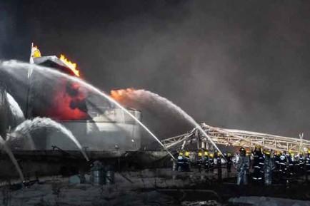 Hiện trường vụ nổ nhà máy hóa chất ở Diêm Thành