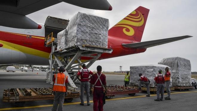 Hiện chưa rõ loại hàng viện trợ nhân đạo Trung Quốc vừa chuyển tới Venezuela