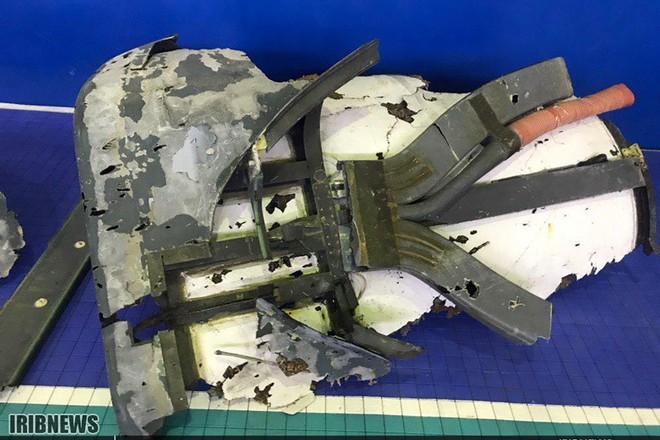 Mảnh vỡ được cho là của chiếc máy bay do thám không người lái Mỹ bị bắn hạ