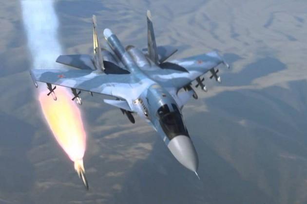 Chiến đấu cơ Nga khai hỏa tiêu diệt mục tiêu