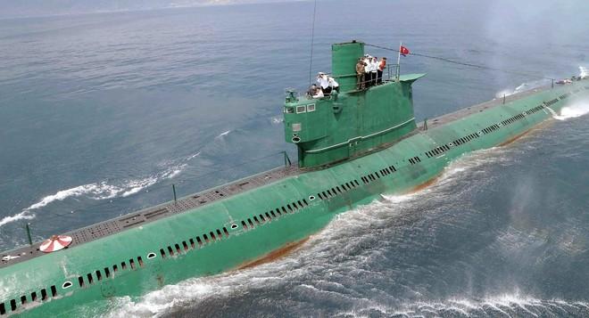 Một chiếc tàu ngầm của Triều Tiên