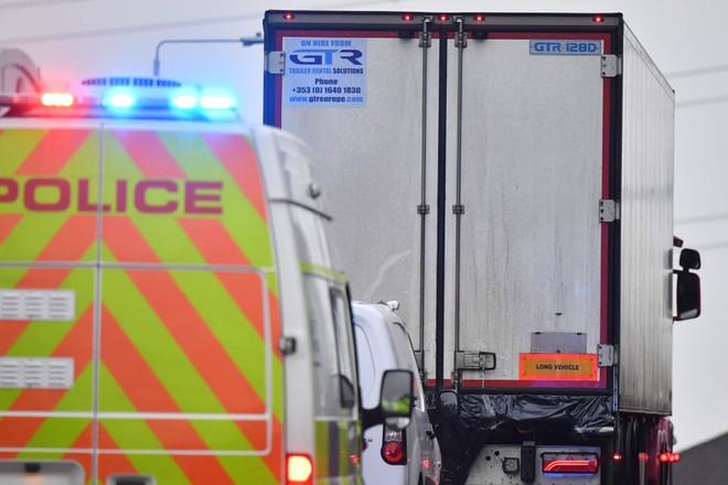 Chiếc xe container bị phát hiện chở 39 thi thể ở Anh