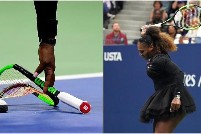Chiếc vợt bị ngôi sao quần vợt Serena Williams đập hỏng