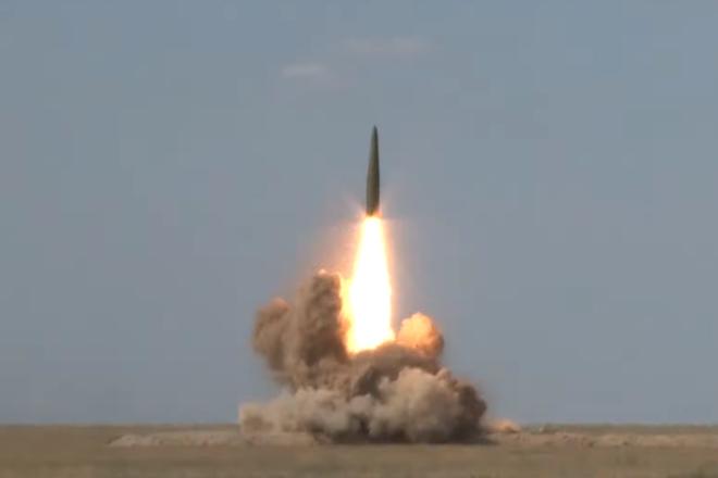 Tên lửa Iskander của Nga được phóng đi