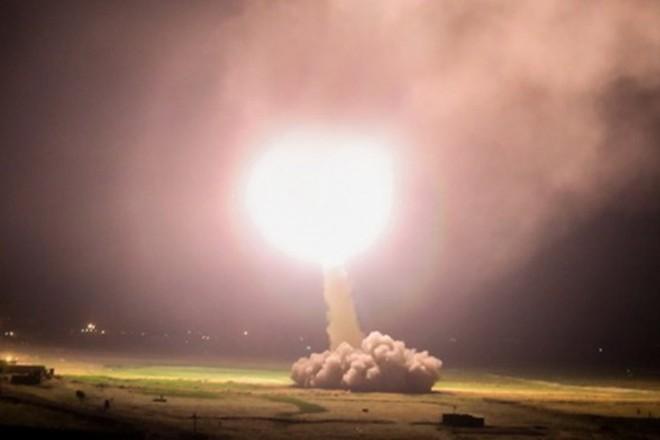 Tên lửa Iran được phóng đi. Ảnh: Fars News