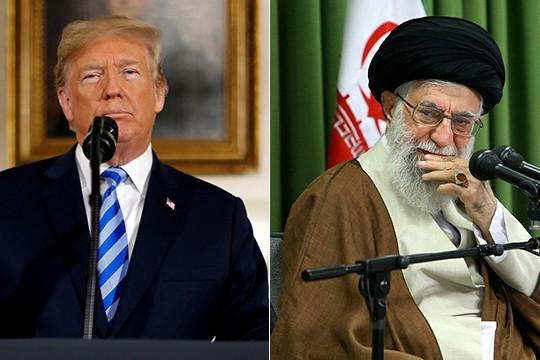 Tổng thống Mỹ Donald Trump và Lãnh tụ tối cao Iran Ali Khamenei