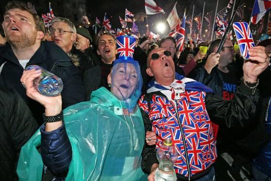 Niềm vui của những người ủng hộ Anh rời khỏi Liên minh châu Âu
