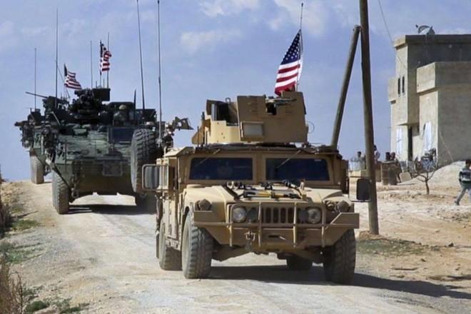 Đoàn xe của quân đội Mỹ tại Syria