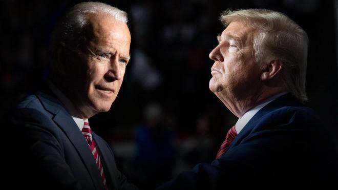 Cựu Phó Tổng thống Mỹ Joe Biden và Tổng thống Donald Trump