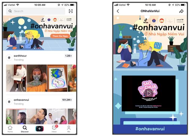 """Chiến dịch """"Ở Nhà Vẫn Vui"""" (#onhavanvui) trên TikTok"""