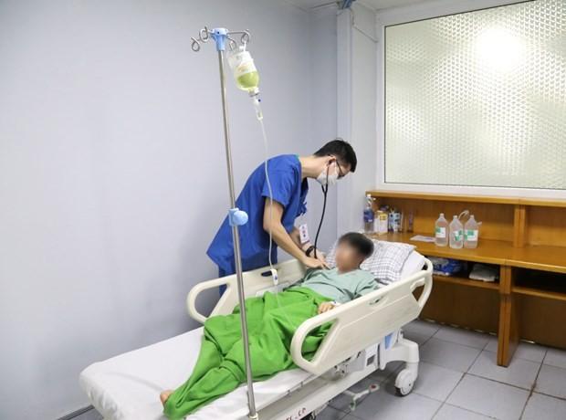 Bệnh nhân bị điện giật đã hồi phục. Ảnh: Vietnam+