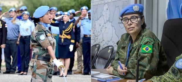 Thiếu tá Suman Gawani (trái) và Chỉ huy Carla Monteiro de Castro Araujo