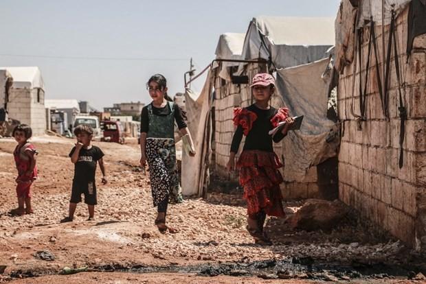 Trẻ em tại một trại tị nạn ở tỉnh Idlib, Syria