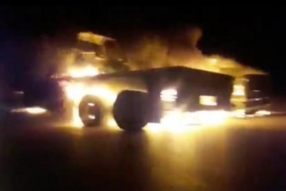 Đoàn xe tiếp tế quân đội Mỹ ở Iraq bị đốt cháy trong đêm