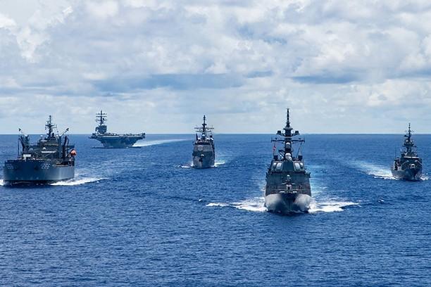 Chiến hạm Australia, Mỹ và Nhật Bản diễn tập tại Biển Philippines