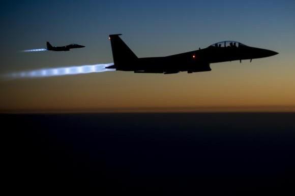 Máy bay tiêm kích F-15E Strike Eagles của Không quân Mỹ