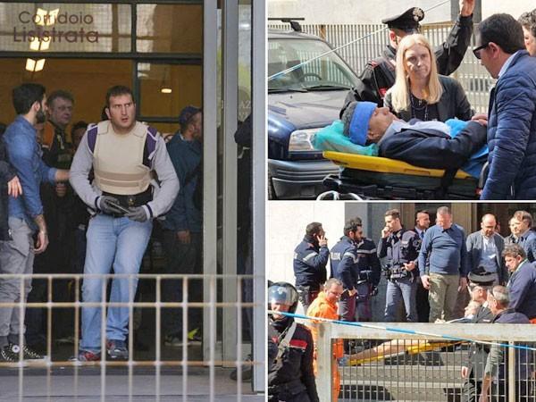 Nổ súng giữa phiên tòa tại Milan, 4 người thiệt mạng ảnh 1