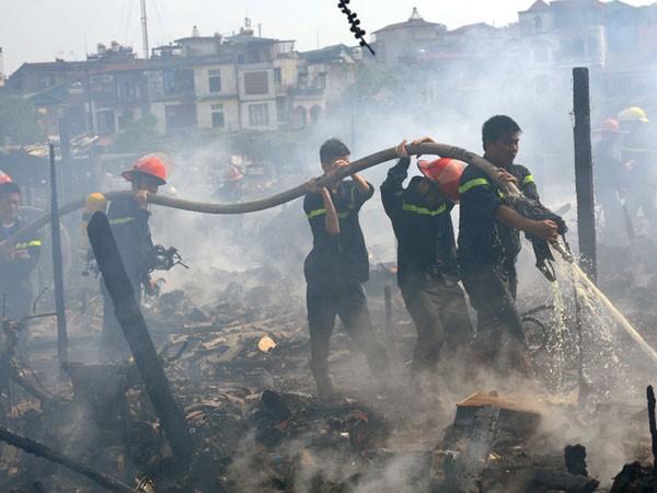 Ra mắt Đội chữa cháy chuyên nghiệp quận Ba Đình ảnh 1