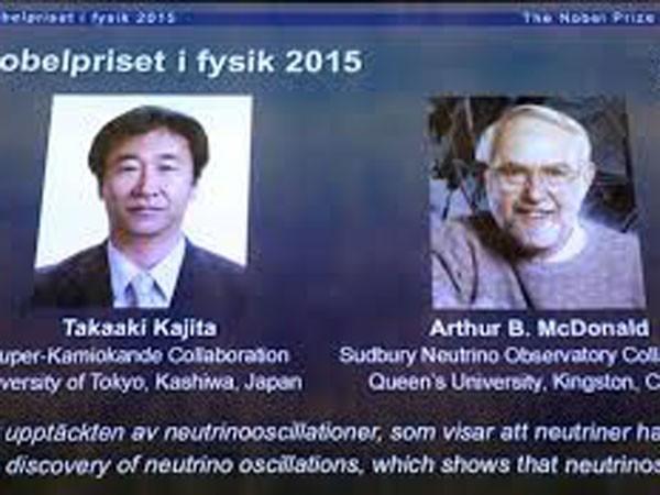 2 nhà khoa học Nhật Bản và Canada giành Nobel Vật lý 2015 ảnh 1