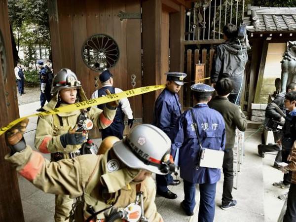 Bom nổ rung chuyển đền Yasukuni của Nhật Bản ảnh 1