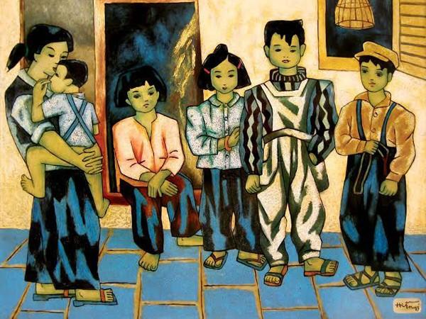 Lũ trẻ xóm tôi - Họa sĩ Nguyễn Thị Hiền