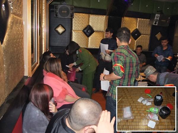 """Đột kích quán karaoke Thiên Sơn Lầu, phát hiện 24 đối tượng đang """"bay lắc"""" ảnh 1"""