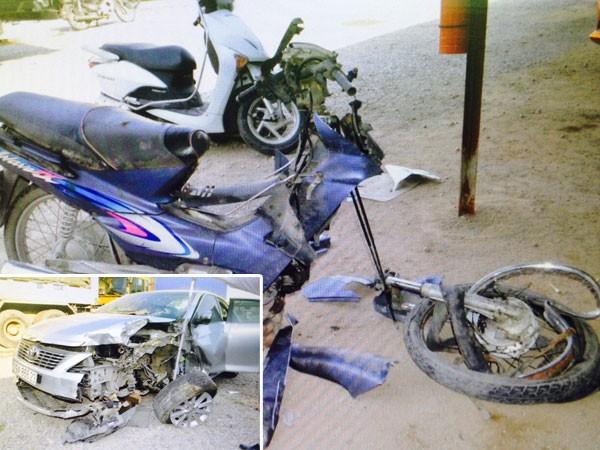2 phương tiện bị hư hỏng nặng trong vụ tai nạn thương tâm