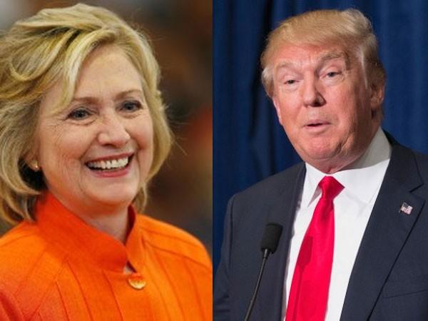 Ứng cử viên Tổng thống Mỹ bà Hillary Clinton của Đảng Dân chủ và tỷ phú Donald Trump của Đảng Cộng hòa