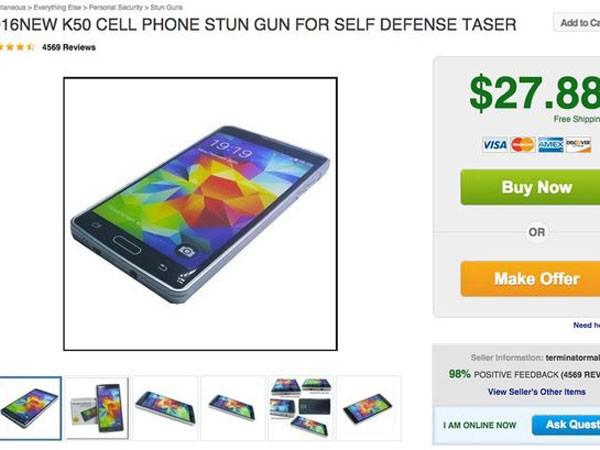 Súng phóng điện giả điện thoại iPhone với giá chỉ 27,8 USD