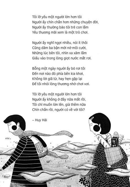Tranh minh họa thơ Huy Hải, sáng tác Eric Nguyễn