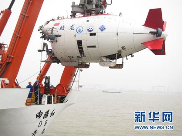 Tàu Giao Long của Trung Quốc có thể lặn sâu tới 7 km