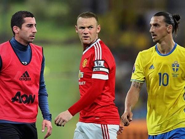 Rooney (giữa) sẽ tồn tại như thế nào bên cạnh Mkhitaryan và Ibrahimovic
