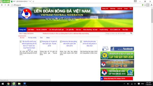 Sau khi được khắc phục, việc truy cập vào website của VFF còn chậm và một số hình ảnh chưa hiển thị đầy đủ