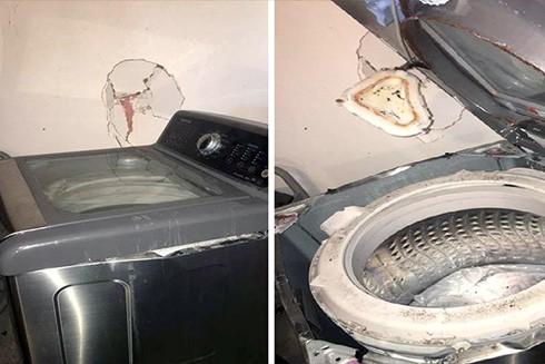 Sau điện thoại đến lượt máy giặt Samsung bị tố gây nổ ảnh 1