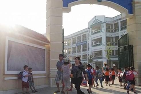 Trường Tiểu học Hoàng Liệt - nơi xảy ra sự việc đáng tiếc