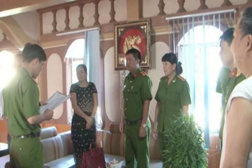 CQĐT thực hiện lệnh bắt Lê Thị Hồng Lan (thời điểm tháng 7-2016)