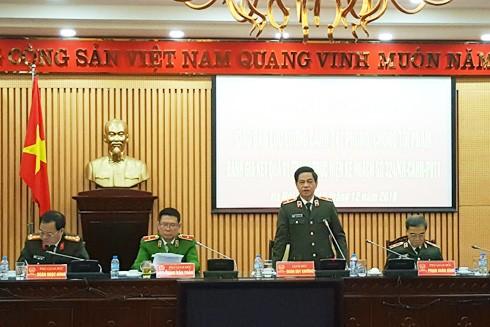 Thiếu tướng Đoàn Duy Khương phát biểu chỉ đạo hội nghị
