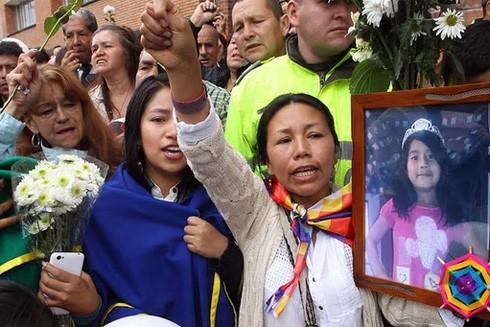 Nhiều cuộc biểu tình đã diễn ra ở Bogotá sau cái chết của cô bé Yuliana