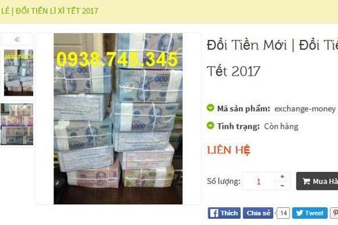 Dịch vụ đổi tiền diễn ra sôi động trên các trang mạng
