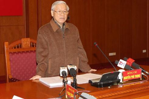 Tổng Bí thư Nguyễn Phú Trọng: Phải quyết liệt hơn nữa trong phòng chống tham nhũng ảnh 1