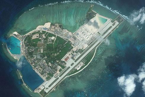 Trung Quốc đã xây xong đường băng trái phép trên đảo Phú Lâm