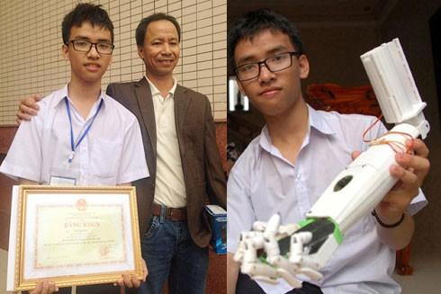 Hành trình đầy cảm xúc của một học sinh chế tạo ra cánh tay robot ảnh 1