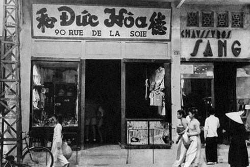 Một hiệu may trên phố Hàng Đào cuối thế kỷ 19