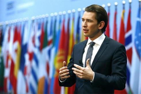 Thủ tướng tương lai của nước Áo Sebastian Kurz mới 31 tuổi là nhà lãnh đạo trẻ nhất châu Âu