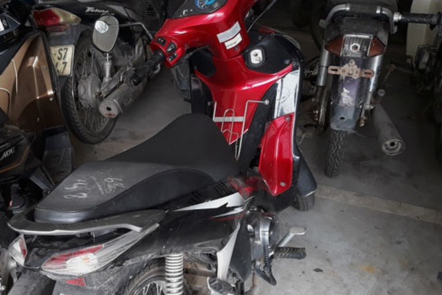 Chiếc xe máy đeo biển kiểm soát giả đối tượng Lâm sử dụng gây án
