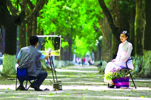 Phố Phan Đình Phùng yên bình, xanh mát và cổ kính